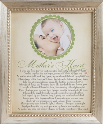 The Grandparent Gift Mom Handprint Frame: Mommys Heart and Me, Blue ...