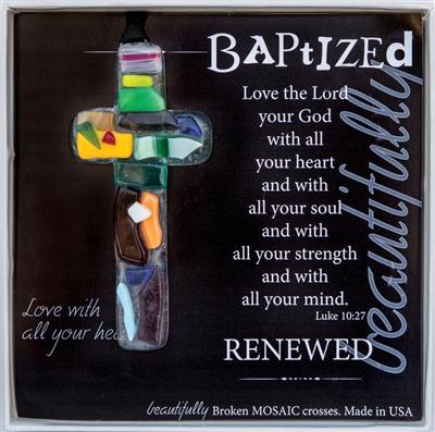 Baptized Handmade Glass Cross