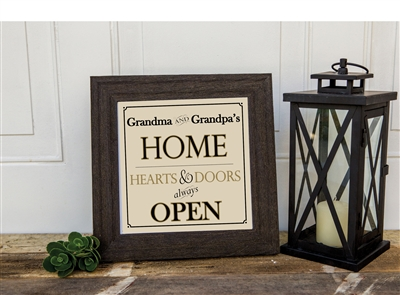 Personalized Grandparent Sign For Home